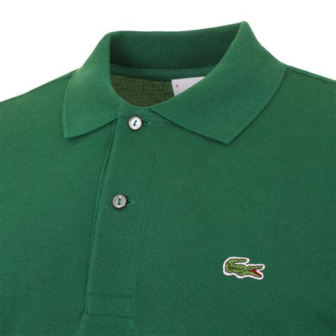 green mens lacoste 2017 mens cotton l1212 sleeve polo