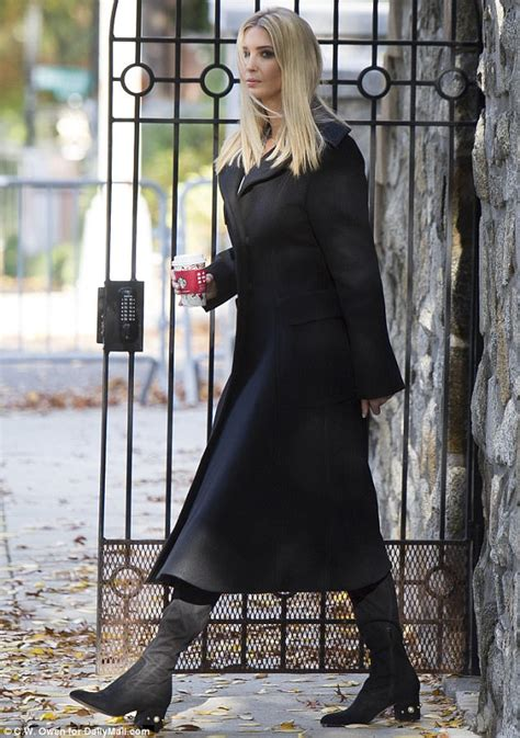 Ivanka Trump leaves her home in funky jeweled boots ...