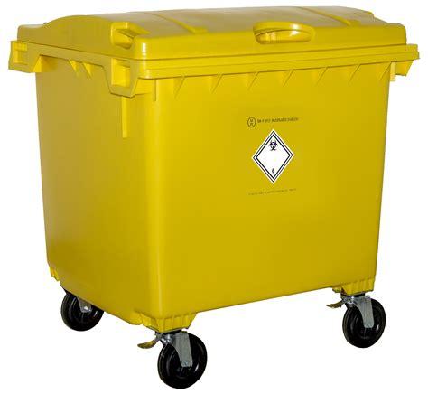 poubelle de bureau bac plastique dasri 1100l jaune jaune fm developpement