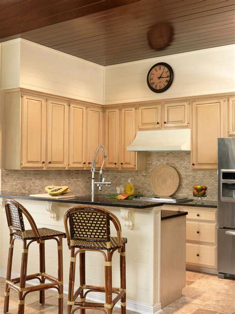transitional small kitchen  breakfast bar hgtv