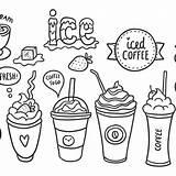Coffee Iced Drawing Vector Pack Getdrawings sketch template
