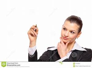 Young Business Woman Writing Stock Photography