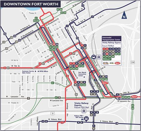 trinity railway express tre fort worth route and