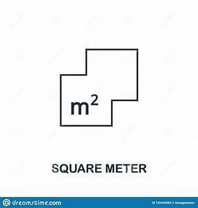 Square, Meter, Icon, Simple, Element, Illustration, Square, Meter, Outline, Icon, Design, From, Real