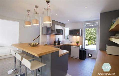 plan de maison avec cuisine ouverte dezign you maison conviviale cuisine ouverte avec bar bois colombes