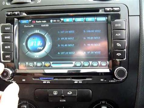 VW Replacement Navi, DVD GPS Multi media System - YouTube