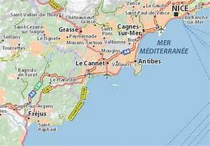 Carte détaillée Cannes - plan Cannes - ViaMichelin