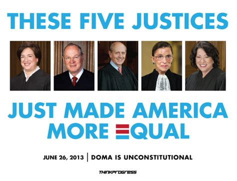 supreme court rules doma  unconstitutional thinkprogress