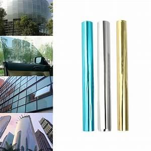 One Way Film : one way solar reflective mirror privacy window film stop heat sticker 50cm 100cm ebay ~ Frokenaadalensverden.com Haus und Dekorationen