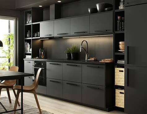 cuisine ikea noir meuble cuisine ikea et idées de cuisines ikea grandes