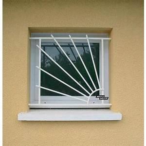 Grille de defense pour fenetre soleil l60 x h75 cm for Grille de protection pour porte fenetre