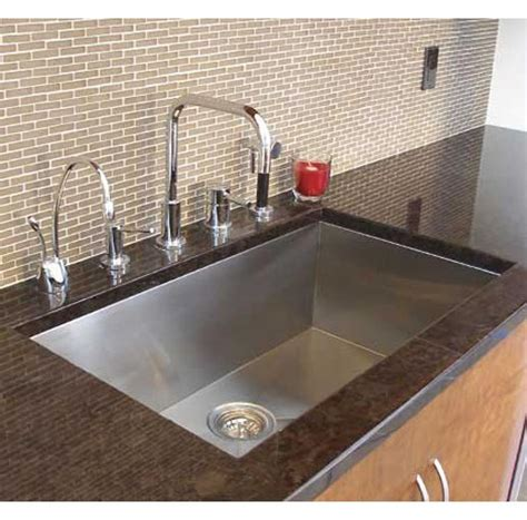 kitchen faucet and sink combo 32 inch zero radius stainless steel undermount single bowl kitchen sink and lead free faucet combo