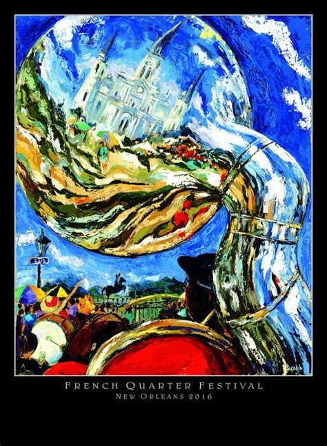 french quarter festival poster  images french