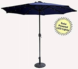 9 solar powered lighted outdoor patio