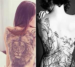 Frauen Rücken Tattoo : 46 coole r cken tattoos f r frauen tattoos ~ Frokenaadalensverden.com Haus und Dekorationen
