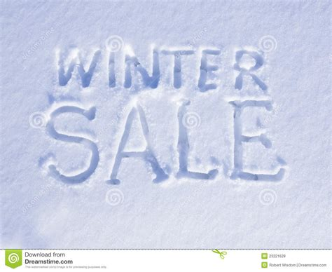 snow winter sale royalty free stock photos image 23221628