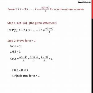 Prove 1   2   3       N   N N 1   2