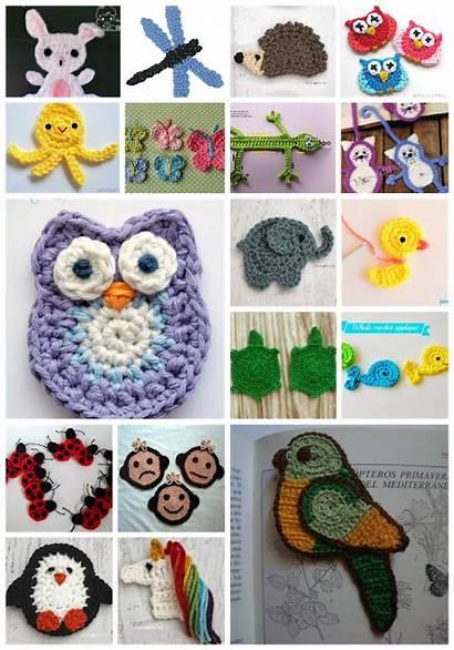 Crochet Patrones Gratis Tuto Appliques Diverses Apliques