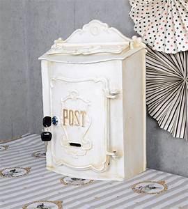 Boite Aux Lettres Vintage : vintage bo te aux lettres blanc murale shabby chic ebay ~ Teatrodelosmanantiales.com Idées de Décoration