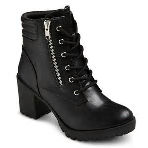 womens combat style boots target 39 s easton chunky heel combat boots target
