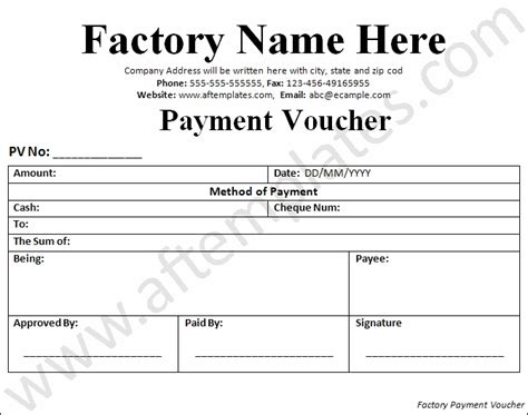 payment voucher template   templates excel
