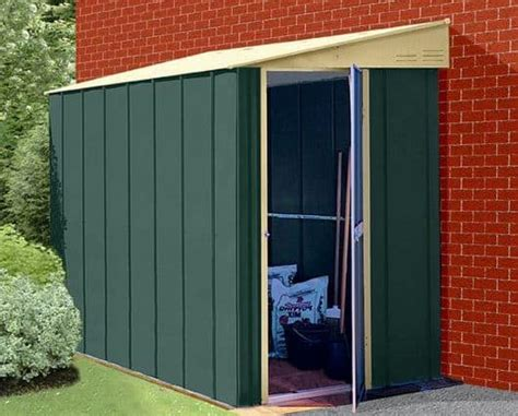 metal lean to shed 5 x 6 store more canberra six pent lean to metal shed