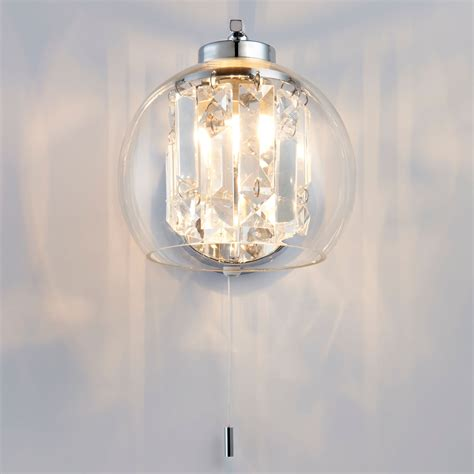 chico chrome effect wall light living room wall lights