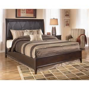 ashley furniturenaomi king size bed with upholstered headboard