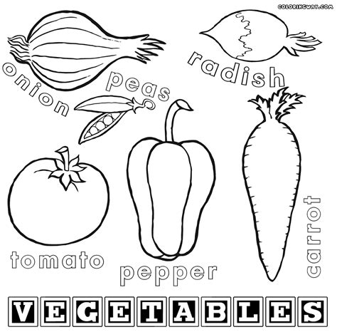 vegetabless coloring pages coloring home