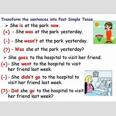 Simple Past Tense Affirmative And Negative Form  Online Presentation