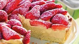 Marzipan Erdbeer Kuchen
