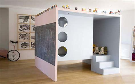 chambre cabane lit mezzanine pour chambre d enfant