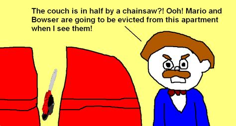 Mr. Goodman Noticed The Broken Couch And Chainsaw! By