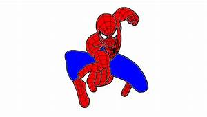 Spiderman Cartoon Drawing - Drawing Sketch Picture
