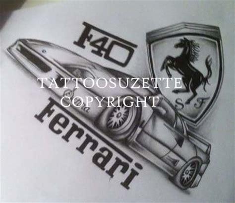ferrari emblem tattoo pin ferrari logo tattoos on pinterest