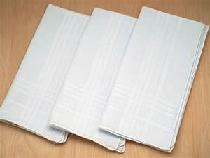 Set of 3 Mens Handkerchiefs with Satin Stripes