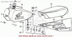 Honda Mr50 Elsinore 1974 K0 Usa Fuel Tank    Seat    Tool