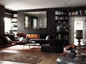 Dark living room colors modern house for Dark paint colors for living room
