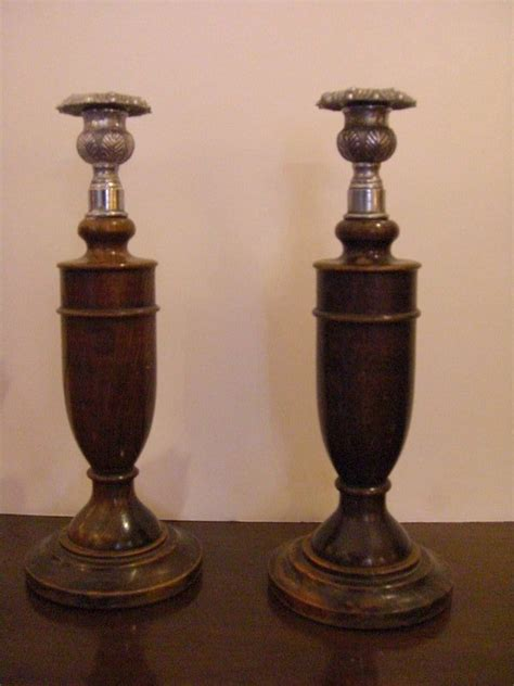 candlestick ls for sale pair of english wood turned candlesticks for sale
