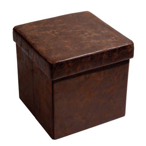 coffre rangement chambre pouf coffre pliable marron vintage maisons du monde