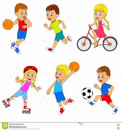 Sports Activity Children Illustration Vector Diversity