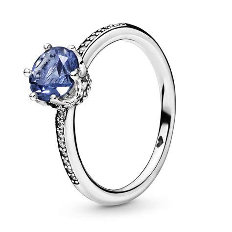 Pandora Blue Sparkling Crown Ring 198289NSWB - Pandora ...