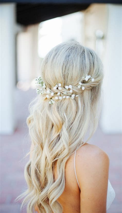 20 amazing half up half down wedding hairstyle ideas oh