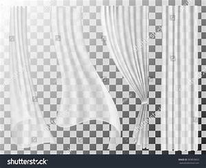 Set transparent curtains different forms waving stock for White curtains wind