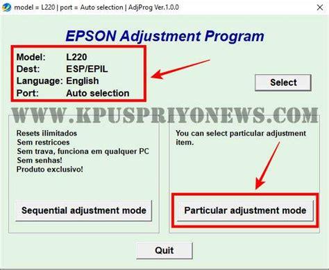 تنزيل برنامج تصفير طابعة ايبسون L220 - Free Download Epson ...