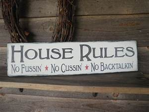 Country, Home, Decor, Wood, Signs, Family, Rules, Home, Decor