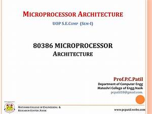 Microprocessor 80386 Architecture Gallery