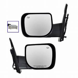 Mirror Qx56 Power Heated Memory Black Textured Mirror Pair