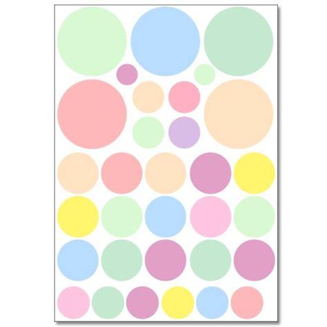Wandtattoo Kinderzimmer Pastellfarben by Wandsticker Set A4 Pastell Punkte