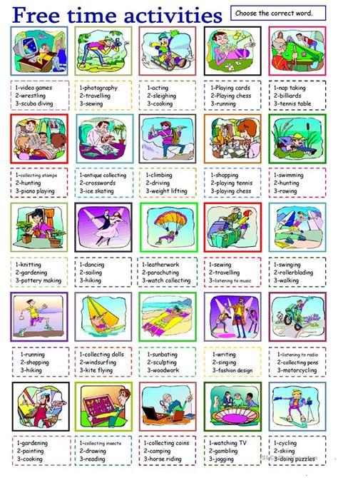esl  time activities worksheets